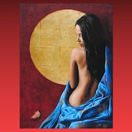 CHRIS DELLORCO, A drifting Memory, Part Nude, Color Giclee on Canvas