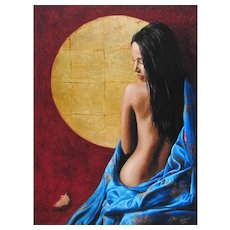 CHRIS DELLORCO A drifting Memory Part Nude Color Giclee on Canvas