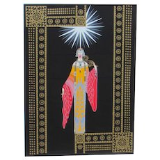ERTE Serigraph on Paper La Princess Lointaine 1984 S/N Edition of 300