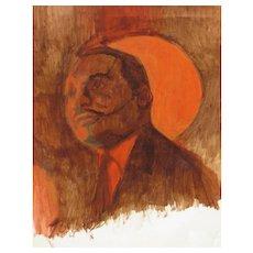 "HERMAN ""KOFI"" BAILEY, African American Artist, Martin Luther King+Drawing of Children"