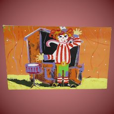 PAUL BLAINE HENRIE Large Original painting Ragtime Band Clown AS IS