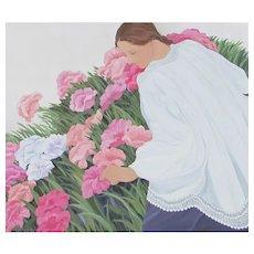 PAMELA HOLEMAN The Poppy Garden large painting