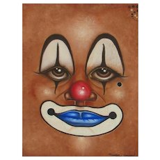 MAURICE HOWARD African American Artist Clown Face oil painting