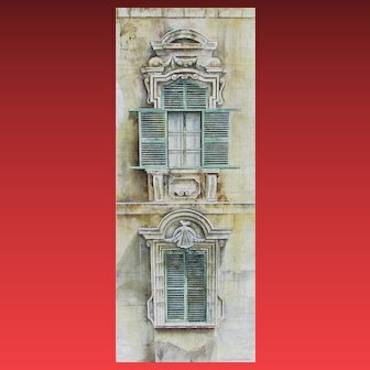 CORO LOPEZ-IZQUIERDO, Listed Spanish, Windows of Malta, oil painting