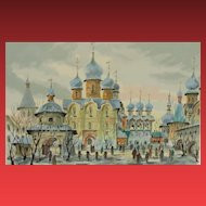 ANATOLE KRASNYANSKY, Listed, Serigraph, Rostov Kremlin Russia