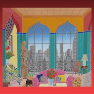 Thomas McKnight, Turtle Bay (NY Manhattan Penthouse Suite) 1988 screenprint, 36/200-SALE