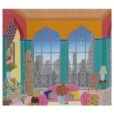 Thomas McKnight, Turtle Bay (NY Manhattan Penthouse Suite) 1988 screenprint, 36/200-SALE