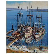 FIL MOTTOLA Fishing Boats Morro Bay oil