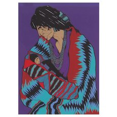 Amado Pena, Artist's Proof Serigraph, Edition of 10, La Madona, hand signed/titled/numbered