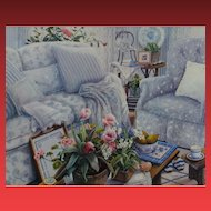 "SUSAN RIOS, Listed, ""Room to Breathe"", S/N lithograph on canvas, COA"