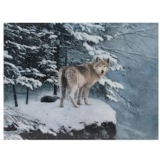 HELEN RUNDELL Listed Timberwolf Lithograph Presidential Edition of 50 Signed by Gerald Ford