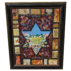 VICTOR SHREM Jerusalem Star Giclee on Canvas was $795 Solomon Frame