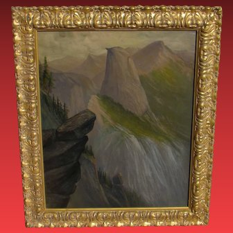 JAMES EVERETT STUART, Listed, Half Dome from Lilliloutte Crest, Yosemite, 1918, oil