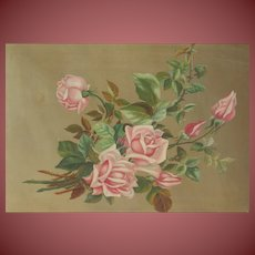Turn of the Century VICTORIAN ROSES oil painting