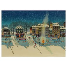 HIRO YAMAGATA Snow Fire Serigraph S/N 134/295 Martin Lawrence Compare at $15k