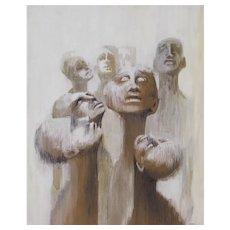 DELORES YONKER, California CSUN Professor & Artist, Haitian Vodoo Figures, mixed media