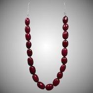 Enhanced, Earth Mined, Ruby Necklace, Earrings
