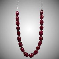 Enhanced, Earth Mined, Ruby Necklace, Earrings