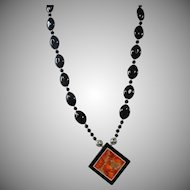 Black Onyx, Ocean Jasper, Pendant,Necklace, Earrings