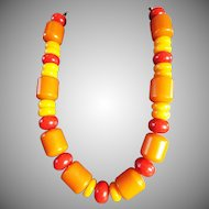 Art Deco, Chunky Bakelite Necklace