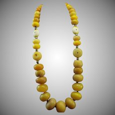 98 Year Old, African Trade Beads, Mali, Necklace