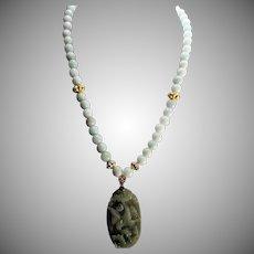 Jadeite Swooning Bird Necklace, Earrings