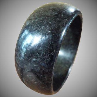 Rare, Very Small Natural Black Jadeite Bangle, 50mm