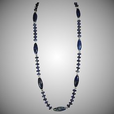 Natural, Egyptian Lapis Lazuli, Unusual and gorgeous, Necklace With Earrings