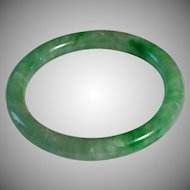 Authentic Apple Green Jadeite, Grade A Bangle.