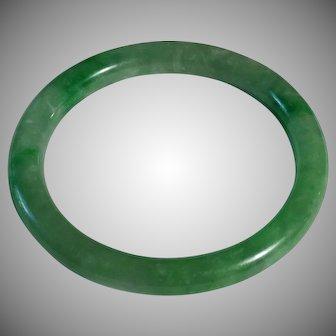 Authentic Apple Green Jadeite, Grade A Bangle. (2)