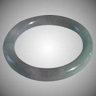 Lavender, Green, Unprocessed Grade A Jadeite Bangle (1)