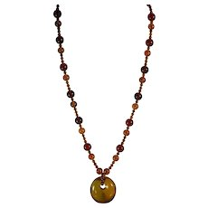 Natural Baltic Amber Necklace With Earrings