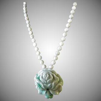 Natural Certified Jadeite Flower Pendant, Jadeite Round Beads, Necklace, Earrings