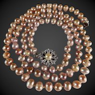 36 Inch, Japanese Akoya Freshwater Pearl Necklace