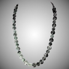 Natural green amethyst , prasiolite Necklace, Earrings