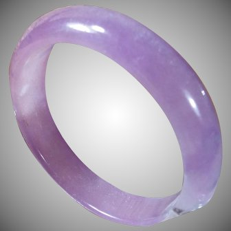 Natural. Certified, Undyed, Lavender, Nephrite Jade, Bangle