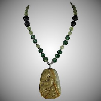 Jadeite, Caramel Color, Pendant, Necklace, Earrings