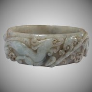Amazing, Expertly Handcarved, Jadeite Bangle, Small