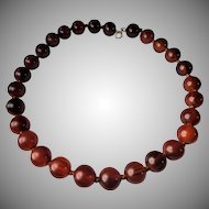 Art Deco, Cherry Red, Amber Bakelite, Necklace
