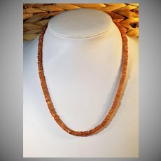 Natural Sunstone Heishi Bead Necklace, 83 Cts.