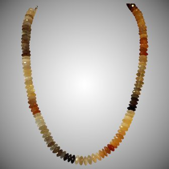 Triple Color, Moonstone Necklace, 220Cts