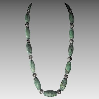 Mid, 1980s Chinese, Cloud Mountain , Zhuxi Mine, Turquoise, Necklace