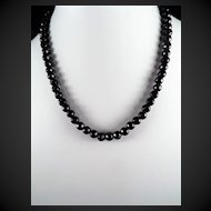 Art Deco, French Jet, Mourning Necklace, Matching Earrings