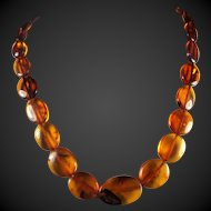 Genuine,Vintage,Natural, Russian, Baltic Amber Necklace, 22 Inches, Earrings