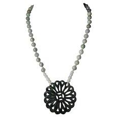 Imperial Green,Openwork Pendant, Jadeite Bead, Necklace,Earrings