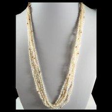 Gorgeous, Vintage, 14K Gold Genuine Pearl 5-Strand Necklace And Bracelet set.
