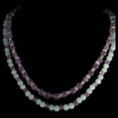 """Double Strand, Gemstone Necklace, 20"""" and 21"""", Earrings"""