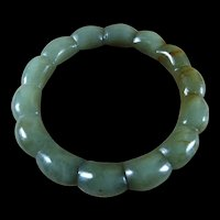 Natural Celadon Green, Nephrite Jade Bangle, 59mm