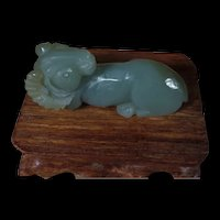 #5 of 6 Vintage Chinese Hand Carved, Ram, Natural Nephrite Jade