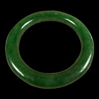 Certified Natural, Imperial Green, Jadeite Bangle, Princess Style, 59MM